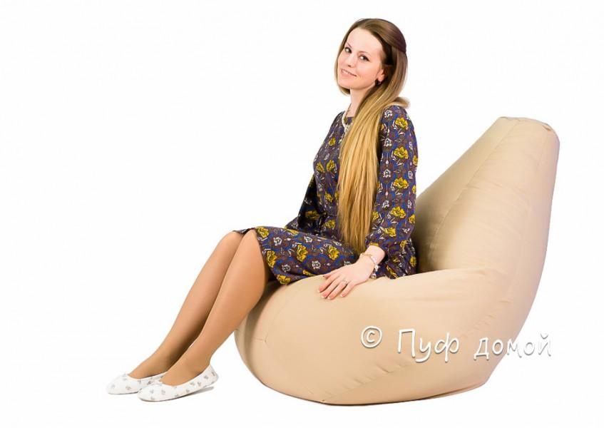Кресло мешок bean bag бежевое
