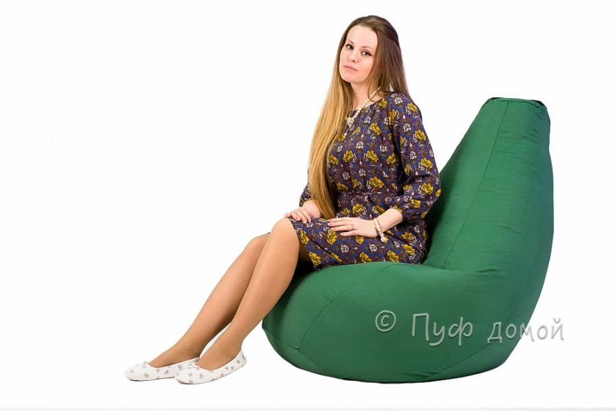 Кресло мешок bean bag темно-зеленый