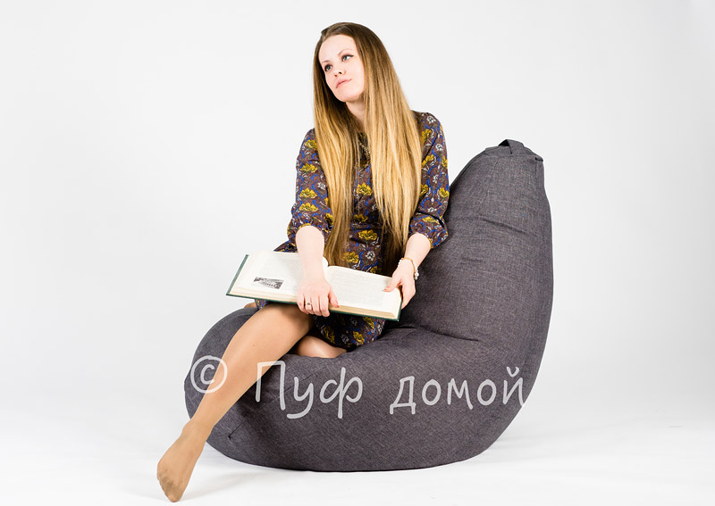 Кресло мешок bean bag темно-серое