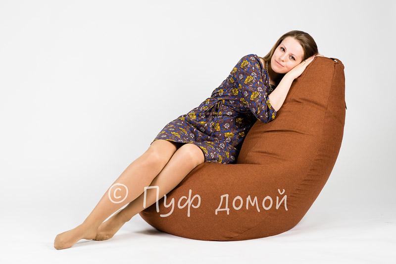 Мягкий bean bag коричневый