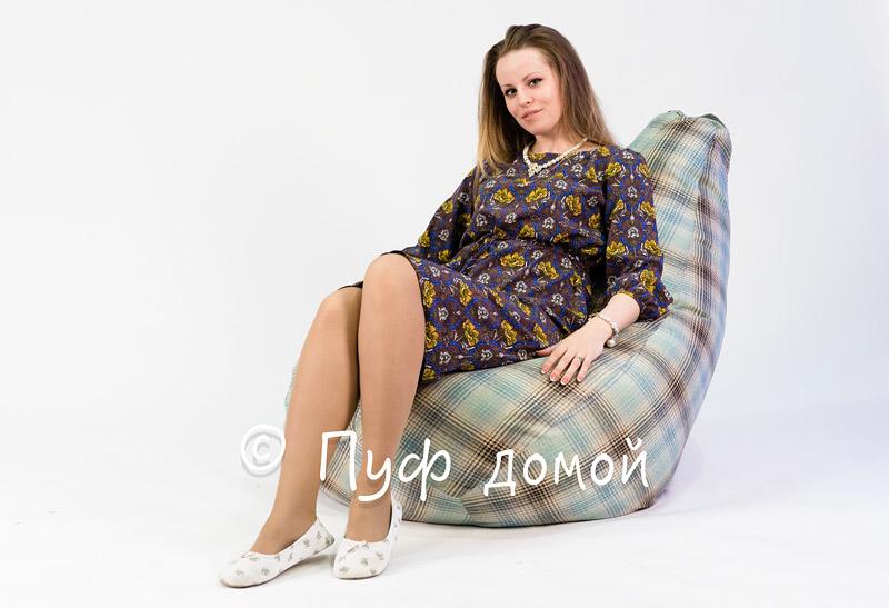 Кресло-мешок бин-бег Плед 1