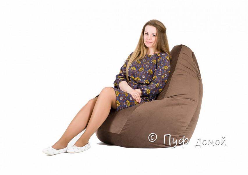 Кресло-груша Велюр коричневый
