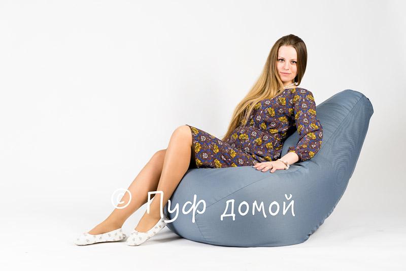 Кресло мешок bean bag серо-голубое
