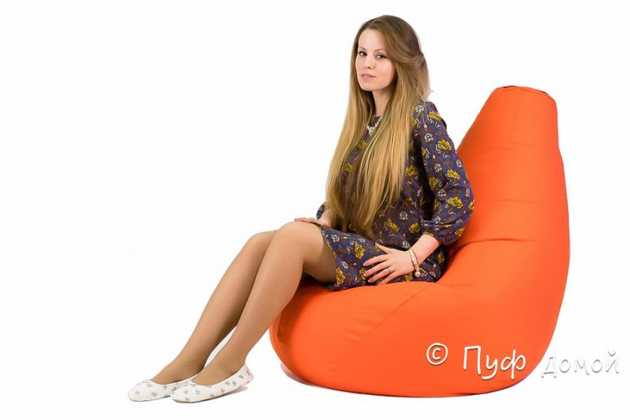 Кресло мешок bean bag оранжевое