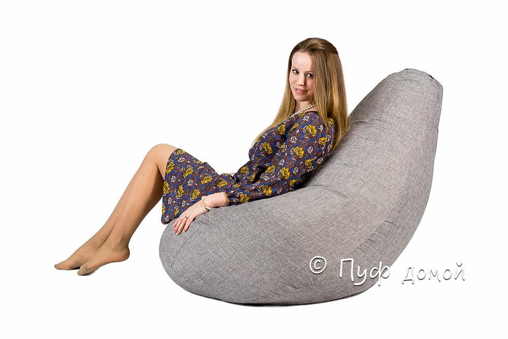 Кресло мешок bean bag серое