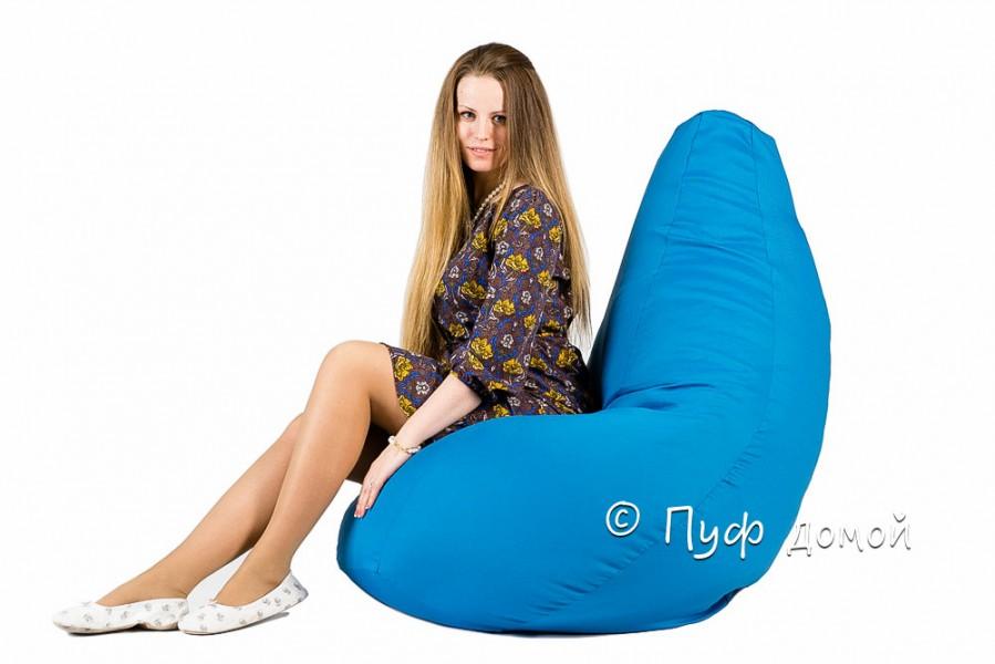 Кресло мешок bean bag голубое