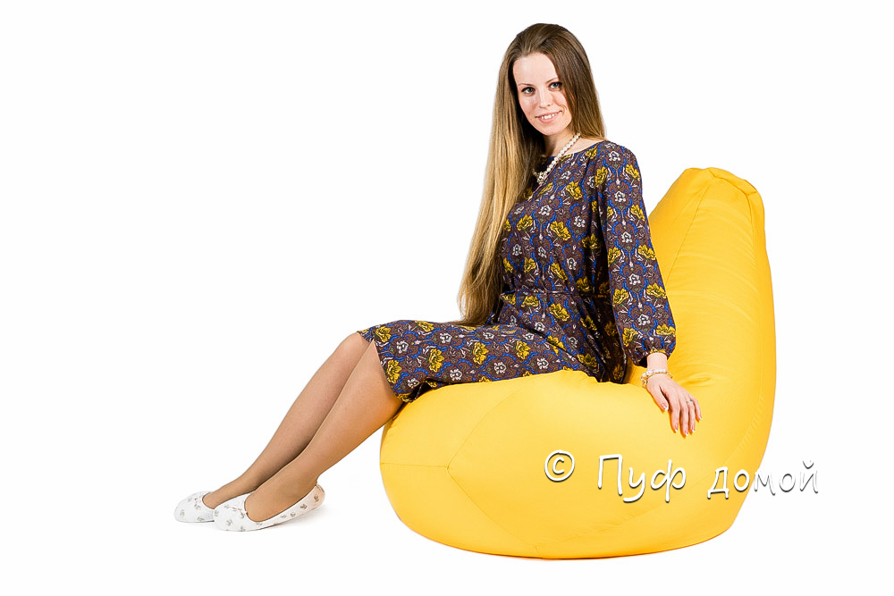 Кресло мешок bean bag желтое