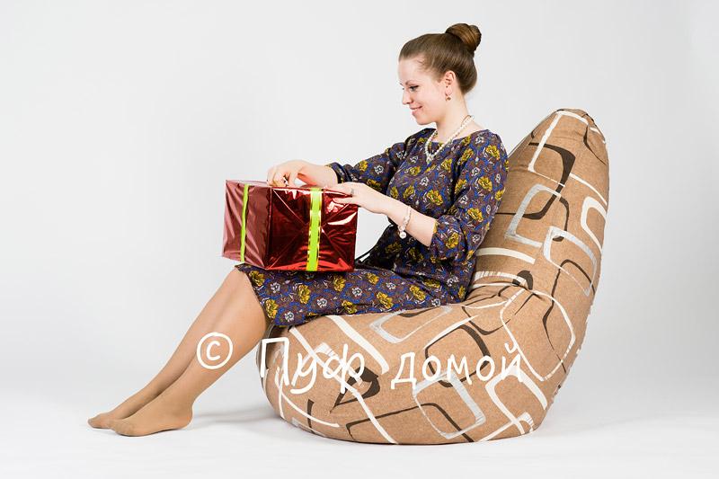 Кресло-мешок бин-бег Геометрик