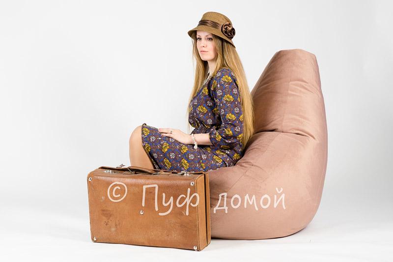 Кресло-груша Велюр Какао