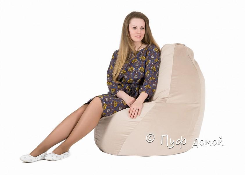 Кресло-груша Велюр кремовый